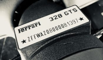 Ferrari 328 GTS QV ABS 1989 – Vendue complet
