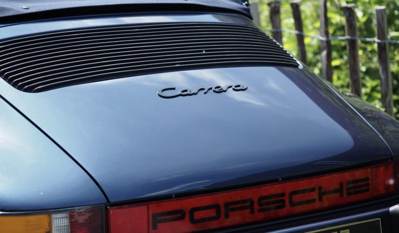 Porsche 911 Carrera 3.2 Cabriolet 915 1987 – Vendue complet