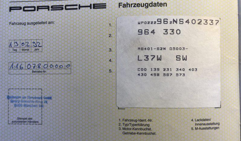 Porsche 964 Carrera 2 coupé phase II 1992 complet